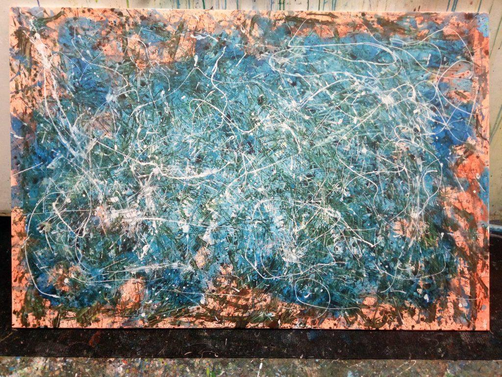 Zeitgenössische, moderne Malerei von Gerhard Knell -Action Painting