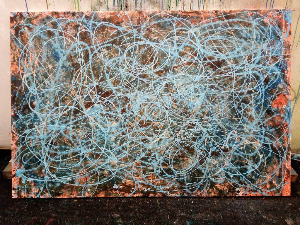 Action Painting. Abstrakte, moderne Malerei von Gerhard Knell