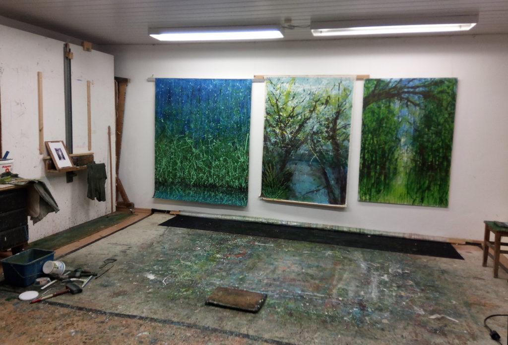 Atelier, Malerei, Kunst, Landschaft, Gerhard Knell