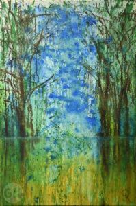 Auenwald II Acrylgemälde, moderne Kunst und zeitgenössische Landschaftsmalerei von Gerhard Knell