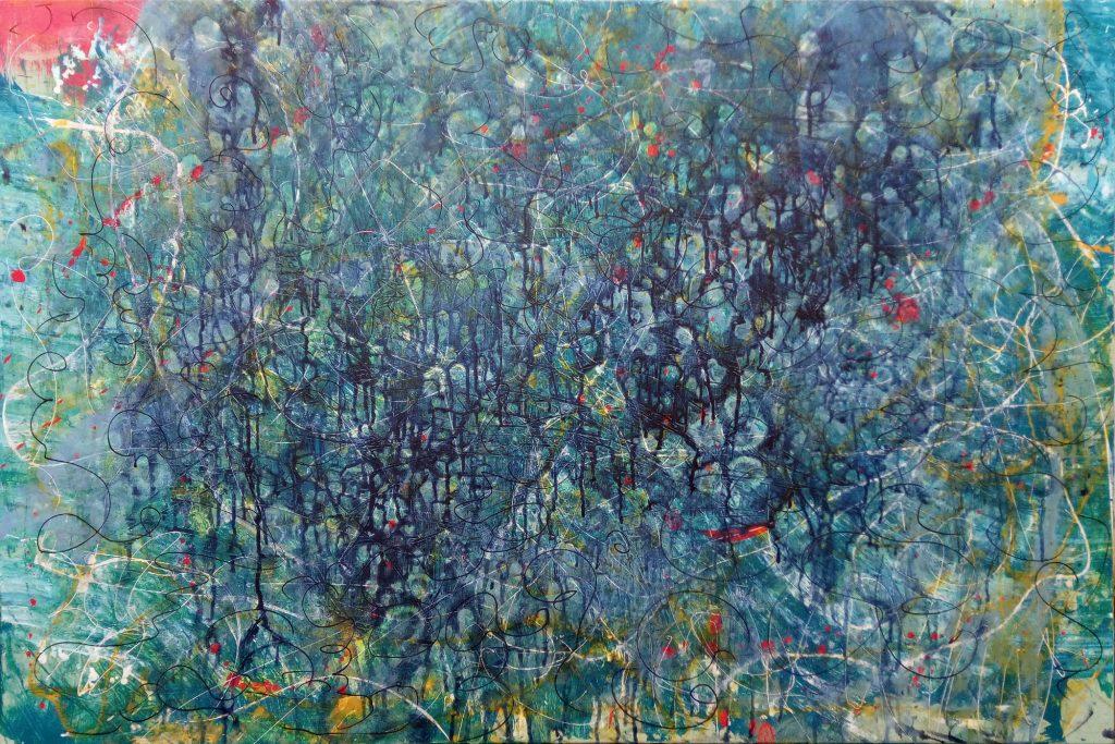 Übermalung Zeitgenössische Kunst Leinwand Gerhard Knell